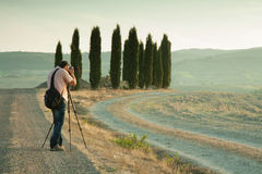 Nature and landscape photographer in Tuscany Stock Photo