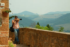 Nature and landscape photographer in Tuscany Stock Photos