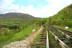 Nature landscape with railroad Stock Photography