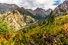 Nature landscape rocky mountains  Central Asia Stock Image