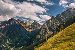 Nature landscape rocky mountains  Central Asia Royalty Free Stock Photos