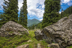 Nature landscape rocky mountains  Central Asia Stock Photography
