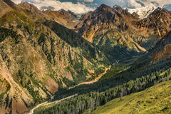 Nature landscape rocky mountains  Central Asia Stock Photo