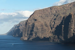 Los Gigantos, Tenerife, Canary islands, Spain Royalty Free Stock Images