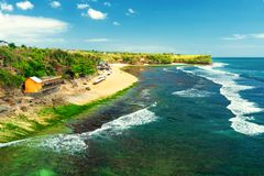 Nature landscape tropical beach in Bali Indonesia royalty free stock image