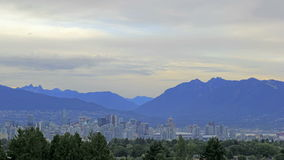 Nature Landscape and Urban Cityscape of Vancouver BC Canada with Two Lions Cypress Grouse Mountains 1080p stock video footage