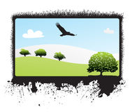nature landscape vector Royalty Free Stock Image