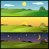 Nature landscape vector Royalty Free Stock Images