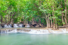 Nature landscape of waterfalls in green National Park in Thailan Stock Image