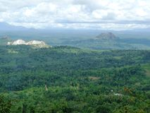 Nature landscape. Wayandu, Kerala, India. birdseye view from one of the hill Stock Photography