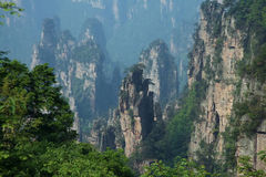 Nature landscape of Zhangjiajie Royalty Free Stock Photos