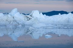Ices and icebergs stock images