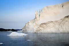 Ices and icebergs stock photo