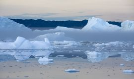 Ices and icebergs stock image