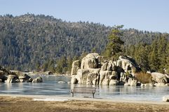Nature, Lanscape , Lake. Picture from Big Bear Lake  ,  California Stock Photography