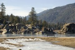 Nature, Lanscape , Lake. Picture from Big Bear Lake  ,  California Royalty Free Stock Photography