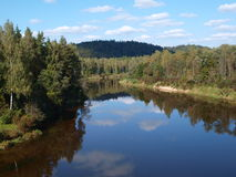 Nature. Latvia. A beautiful view of the river Royalty Free Stock Photo