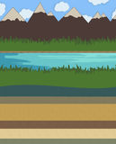 Nature layer vector illustration Stock Image
