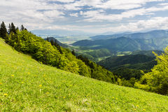 Nature le long du chemin de recyclage de Malino Brdo à Revuce dans Slova Photos stock