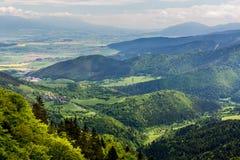 Nature le long du chemin de recyclage de Malino Brdo à Revuce dans Slova Images libres de droits