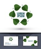 Nature. Leaves in the circle. Logo, icon, emblem, Stock Photo