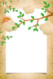 Nature letter recycled royalty free illustration