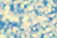 Nature light background- bokeh christmas. Illuminated decor. Nature pattern- light bokeh background. Celebratory mood magic effect. Decorations holiday- design Stock Photo