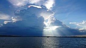 Nature. Light sky sea cloud royalty free stock photos