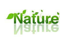 Nature, logo d'écologie Photo stock