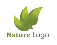 Nature logo. Nature vector logo design isolated on white background vector illustration