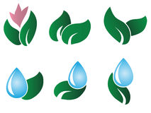 Nature logos Stock Image