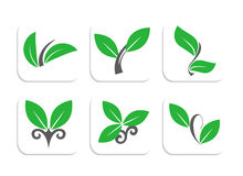 Nature logos. Six various logos in nature concept Royalty Free Stock Images