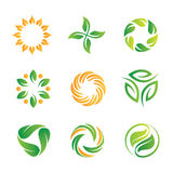 Nature loop logos and icons template Stock Image