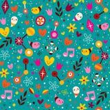 Nature love harmony fun characters seamless pattern Stock Photos