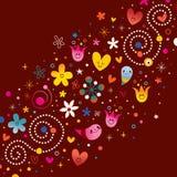 Nature love harmony retro abstract art. Vector illustration Royalty Free Stock Photos