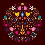 Nature love harmony round abstract art Stock Image