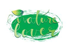 Nature Lover lettering Royalty Free Stock Photo
