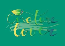 Nature Lover lettering Stock Photo