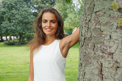 Nature loving young woman Royalty Free Stock Photo