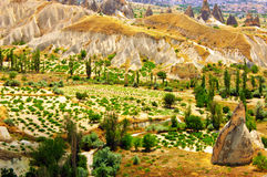 Magnificent rock landscape. Cappadocia, Turkey Royalty Free Stock Photography