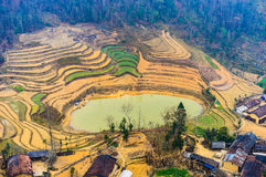 Nature majestic mountains landscape in Ha Giang, Vietnam Stock Photos