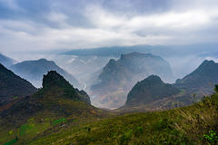 Nature majestic mountains landscape in Ha Giang, Vietnam Royalty Free Stock Photography