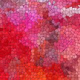 Nature marble plastic stony mosaic tiles texture background with purple grout - vibrant red, pink and magenta colors Royalty Free Stock Images