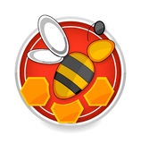 Nature and medic bee symbol yellow color Royalty Free Stock Photos