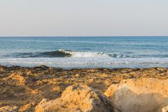 Nature on the Mediterranean coast. In Ayia NAPA in Cyprus Stock Photo