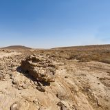 Nature of the Middle East. Rocky hills of the Negev Desert in Israel. Breathtaking landscape and nature of the Middle East royalty free stock photography