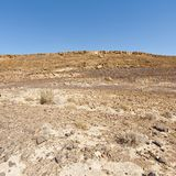 Nature of the Middle East. Rocky hills of the Negev Desert in Israel. Breathtaking landscape and nature of the Middle East stock photo