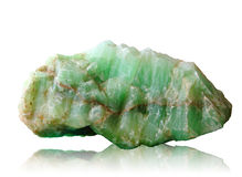 Nature mineral of jade stone with clipping path Stock Images