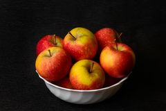 Apples on black background Royalty Free Stock Photography