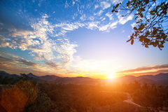 Nature. Mountain landscape during a beautiful sunset. Mountain landscape during a beautiful sunset Stock Photo